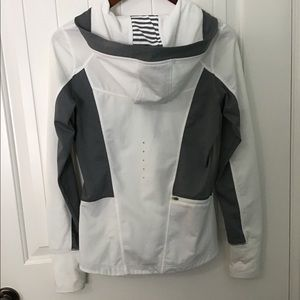 MPG White/Grey Zip Hoodie Performance Reflective